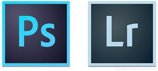 Adobe Photoshop and Lightroom Icon Logos